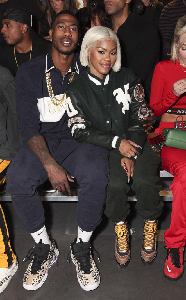 <p>Iman Shumpert and Teyana Taylor attends Kith Sport fashion show at Classic Car Club on September 7, 2017 in New York City. (Photo by Amber De Vos/Patrick McMullan via Getty Images) </p>