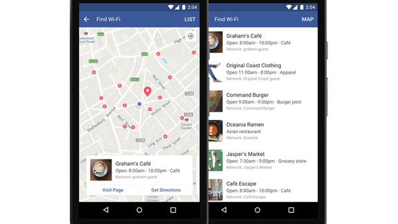 Facebook's 'Find Wi-Fi' feature now available globally