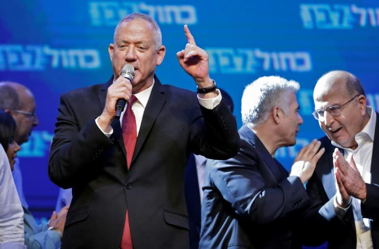 Main challenger Benny Gantz told supporters he would act 'to form a broad unity government that will express the will of the people' (AFP Photo/EMMANUEL DUNAND)
