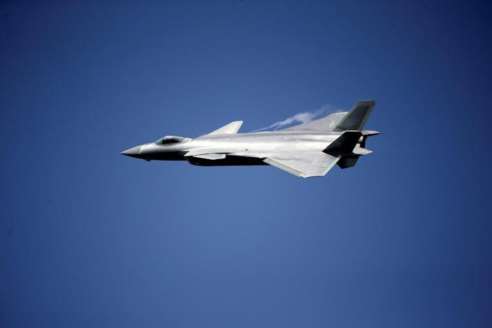 China unveils its J-20 stealth fighter on an air show in Zhuhai, Guangdong Province, China, November 1, 2016. China Daily/via REUTERS