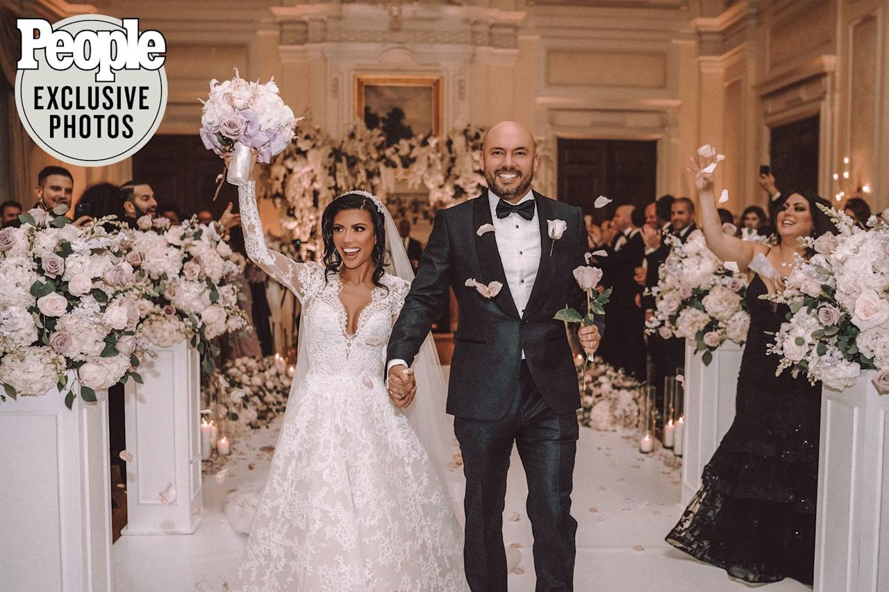 """The <em>Girls Cruise</em> star and her entrepreneur fiancé <a href=""""https://people.com/tv/girls-cruise-tiffany-panhilason-marries-adam-schmidt/"""">tied the knot</a> at the historic Oheka Castle in Long Island, New York on Dec. 13.  The couple honored their Filipino and Spanish roots by exchanging both traditional and personal vows in front of their 150 guests, which included Panhilason's <em>Girls Cruise</em> costars Rozonda """"Chilli"""" Thomas, Mya, Vena """"Pretty Vee"""" Excell, B. Simone and rapper <a href=""""https://people.com/tag/lil-kim/"""">Lil' Kim</a>, who served as maid of honor.  The <a href=""""https://people.com/tv/girls-cruise-tiffany-panhilason-wedding-photos/"""">reception</a>, which the bride described as """"whimsical, magical, romantic and elegant,"""" included a five-course meal.  Attendees — including Matt Sorum, Ace Harper, Gabrielle Dennis, AnnaLynne McCord, Jeannie Mai, as well as designer Marc Jacobs and his husband,<em> Girls Cruise</em> cast member Char DeFrancesco— were also served wedding cake that featured a 3-D scan of the couple.  """"I'm looking forward to continuing to grow in love together and to celebrate life to the fullest,"""" Panhilason told PEOPLE ahead of her wedding."""