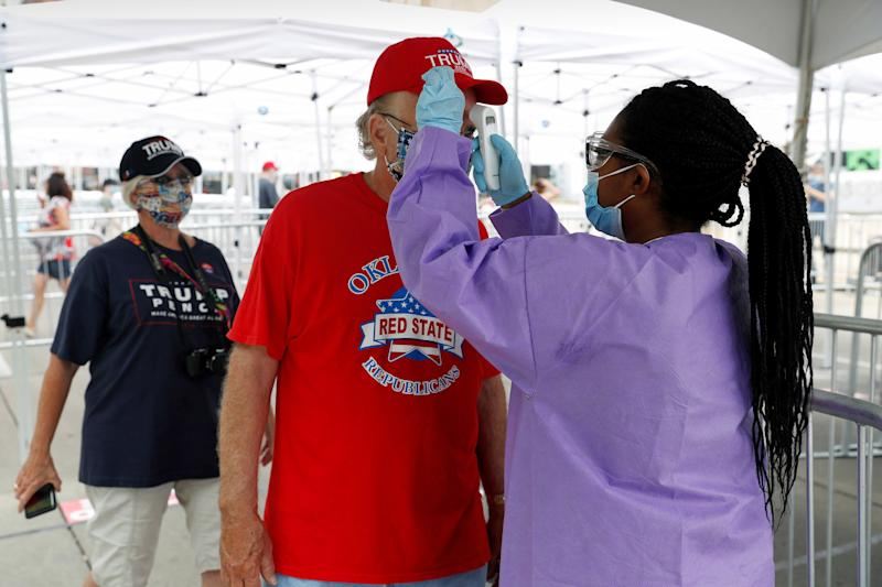 6 Trump campaign members in Tulsa test positive for the coronavirus ahead of rally