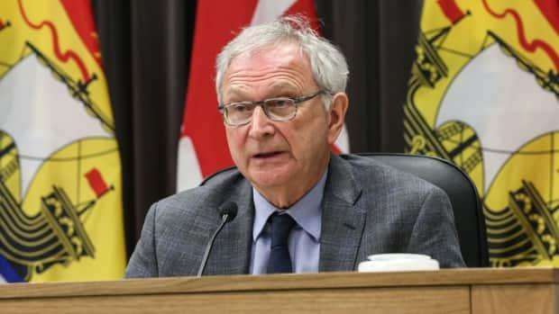 New Brunswick Premier Blaine Higgs said Tuesday the province is trying to find out how to motivate people under 50 who have not been vaccinated yet. (Government of New Brunswick - image credit)