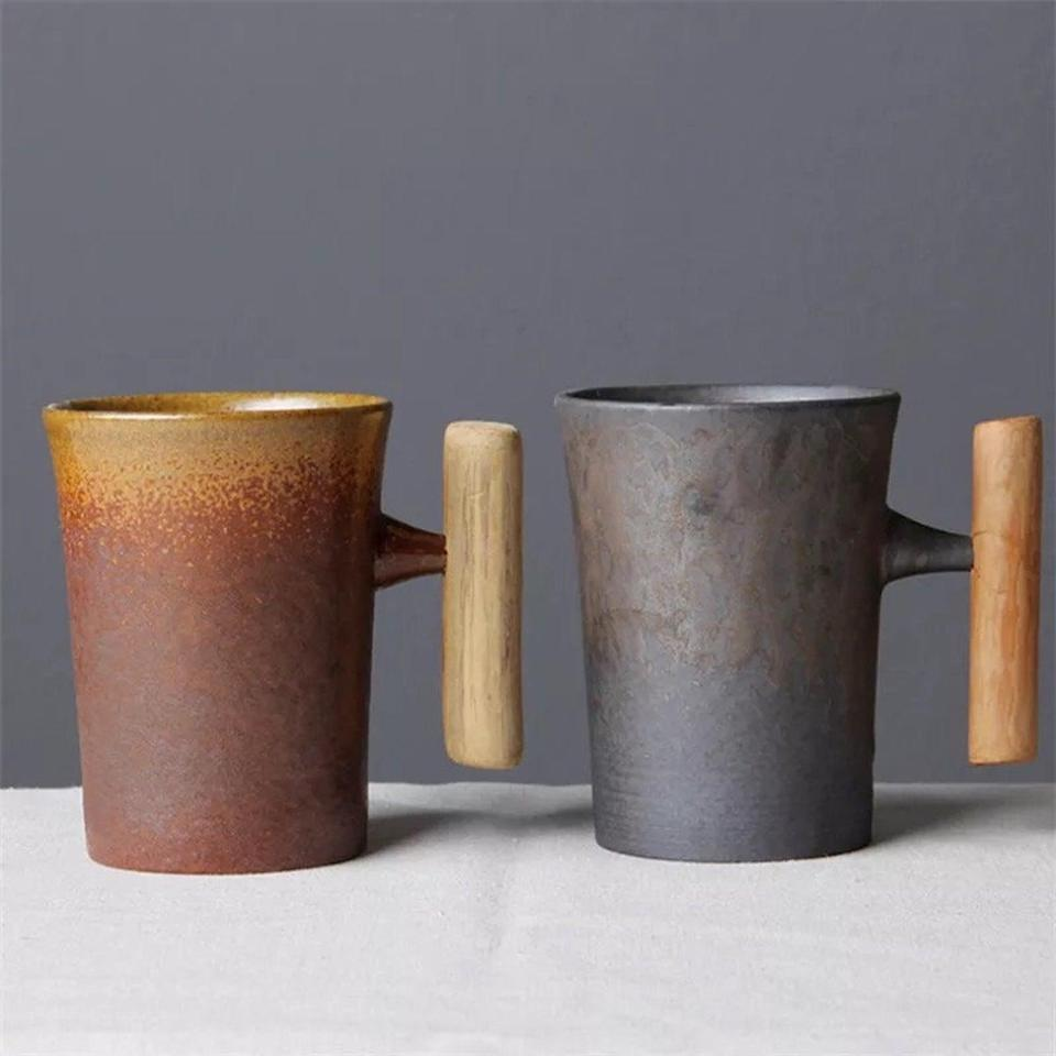 <p>The <span>Japanese Style Vintage Ceramic Mug with Wood Handle</span> ($25) is perfect for avid coffee and tea drinkers. It's a gorgeous drinkware find they'll use all the time.</p>