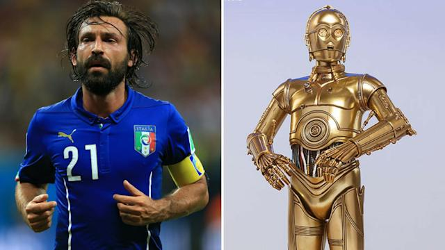 <p>C3 Pirlo – The annoying robot and the majestic Italian midfielder </p>