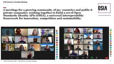 2 meetings for a growing community of 35+ countries and public & private companies working together to build a set of Open Standards Identity APIs (OSIA), a universal interoperability framework for innovation, competition and sustainability.
