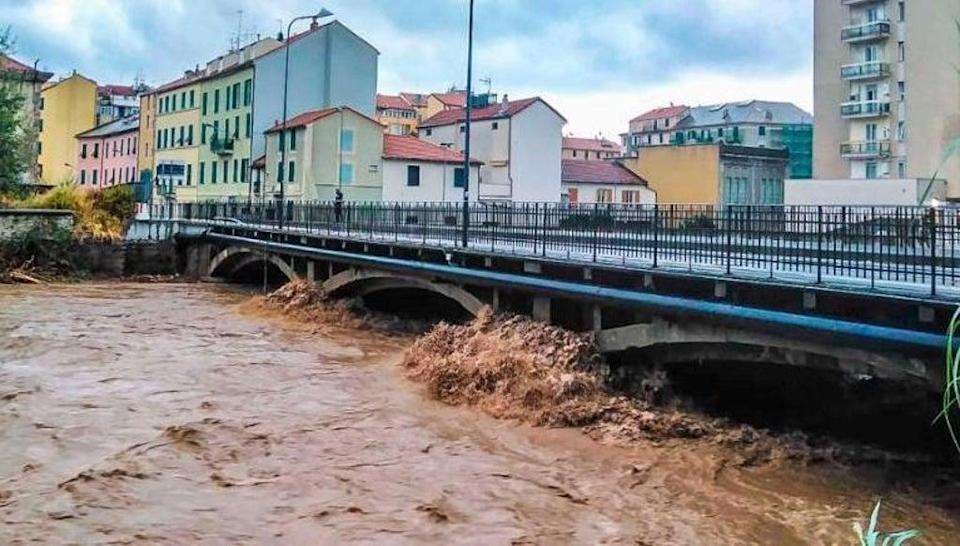 More than half a year's worth of rain fell in parts Italy over 12-hour period on 4 October 2021 (AP)