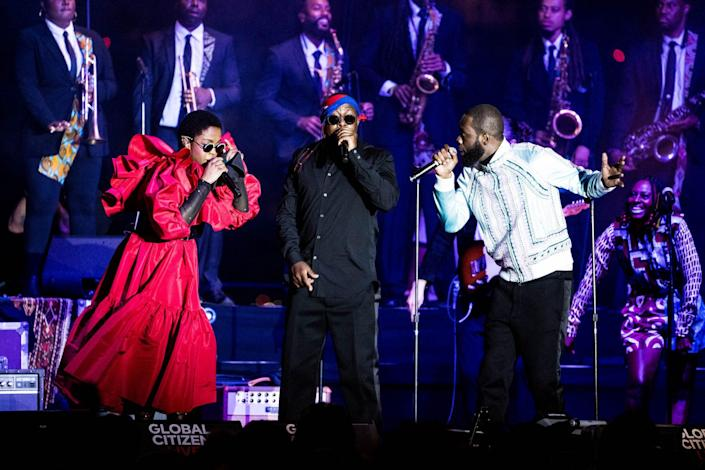 <p>The Fugees — Lauryn Hill, Wyclef Jean and Pras — have their much-anticipated reunion on Sept. 22 on The Rooftop at N.Y.C.'s Pier 17.</p>