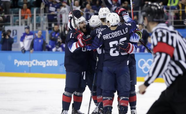 The United States will take on the Czech Republic on Tuesday night in the quarterfinals of the men's tournament.