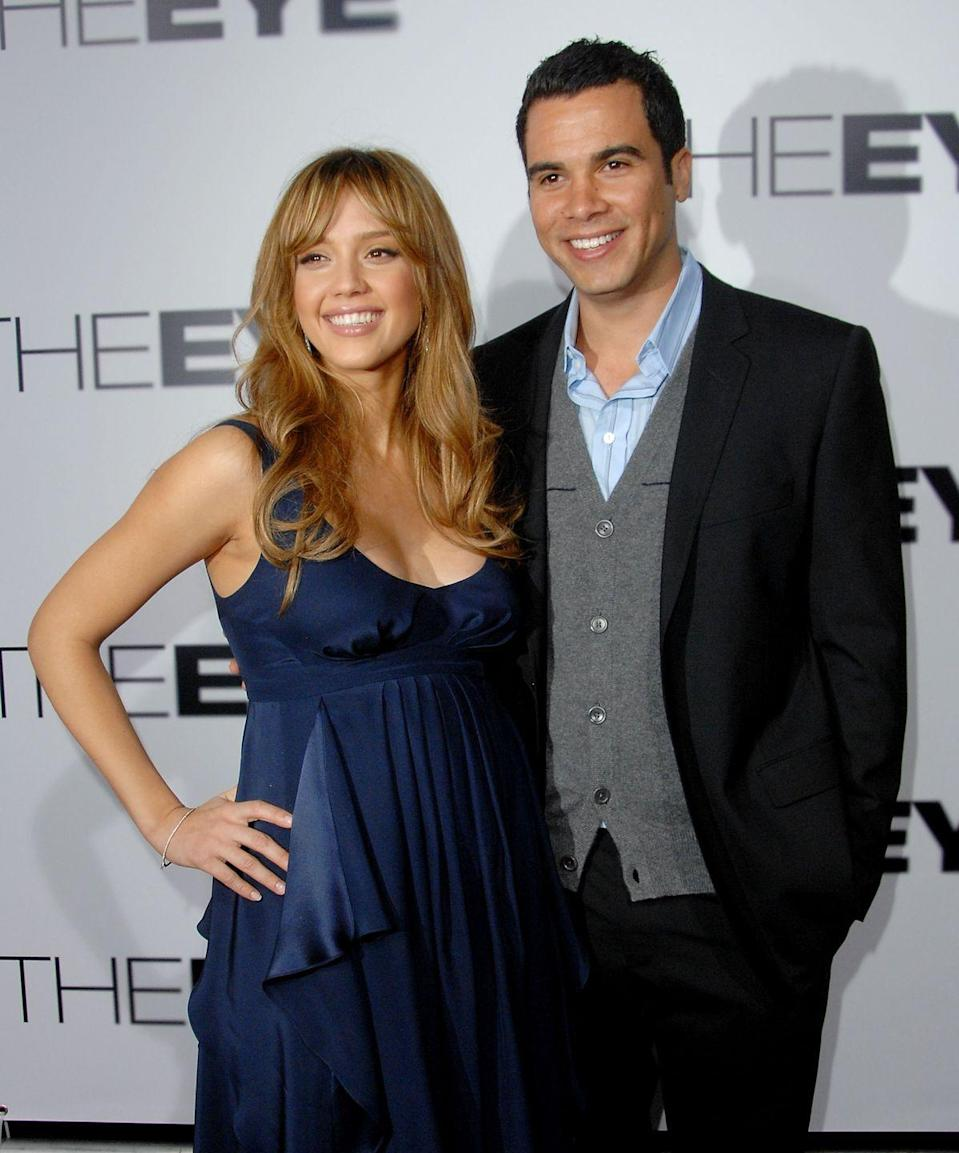 """<p>Actress Jessica Alba and film producer Cash Warren eloped when she was <a href=""""https://www.instagram.com/p/BxqGVMjHQ3G/"""" rel=""""nofollow noopener"""" target=""""_blank"""" data-ylk=""""slk:nine months pregnant"""" class=""""link rapid-noclick-resp"""">nine months pregnant</a> at the courthouse. In celebration of their 11th wedding anniversary, Cash <a href=""""https://www.instagram.com/p/BxqGVMjHQ3G/"""" rel=""""nofollow noopener"""" target=""""_blank"""" data-ylk=""""slk:shared details on Instagram"""" class=""""link rapid-noclick-resp"""">shared details on Instagram</a>: """"It wasn't the dream wedding you deserved, in fact, it was laughably awkward. Standing under an arch of dusty plastic flowers in the courthouse chapel, we held hands and said I Do. No friends or family in attendance ... just you, me and the courthouse employee who served as our witness.""""</p>"""