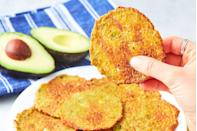 "<p>These are almost too easy to make.</p><p>Get the recipe from <a href=""https://www.delish.com/cooking/recipe-ideas/a21948089/avocado-chips-recipe/"" rel=""nofollow noopener"" target=""_blank"" data-ylk=""slk:Delish"" class=""link rapid-noclick-resp"">Delish</a>.</p>"