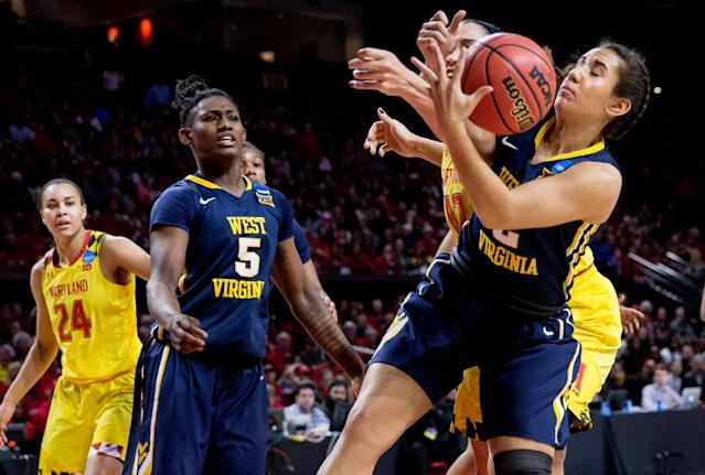 <p><strong>56. West Virginia</strong>. Top 2017-18 sport: rifle. Trajectory: Steady. The Morgantown renaissance was brief. The Mountaineers ranked in the 60s from 2014-16, rose to No. 45 last year and then backslid to No. 63 this year. Spring sports are virtually non-existent in terms of national competitiveness. </p>