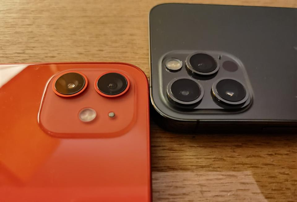 The cameras on the iPhone 12 and 12 Pro