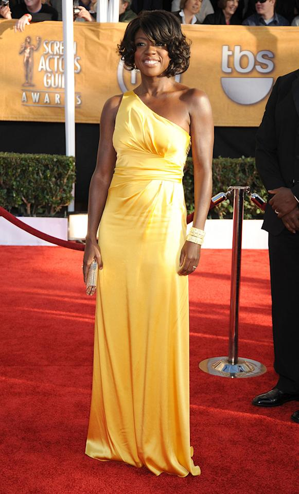 "BEST: <a href=""http://movies.yahoo.com/movie/contributor/1800315745"">Viola Davis</a> at the 15th Annual Screen Actors Guild Awards in Los Angeles - 01/25/2009"