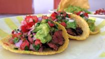 "<p>These restaurant copycat steak tacos might seem complicated, but each step is totally doable, from the carne asada to the salsa.</p> <p><strong>Get the recipe:</strong> <a href=""https://www.popsugar.com/food/Border-Grill-Steak-Tacos-Recipe-34816593"" class=""link rapid-noclick-resp"" rel=""nofollow noopener"" target=""_blank"" data-ylk=""slk:steak tacos"">steak tacos</a></p>"