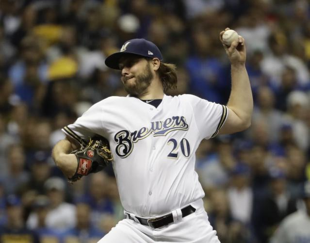 "<a class=""link rapid-noclick-resp"" href=""/mlb/teams/houston/"" data-ylk=""slk:Astros"">Astros</a> sign veteran left-hander Wade Miley, who's coming off surprisingly solid season with <a class=""link rapid-noclick-resp"" href=""/mlb/teams/milwaukee/"" data-ylk=""slk:Brewers"">Brewers</a>. (AP)"