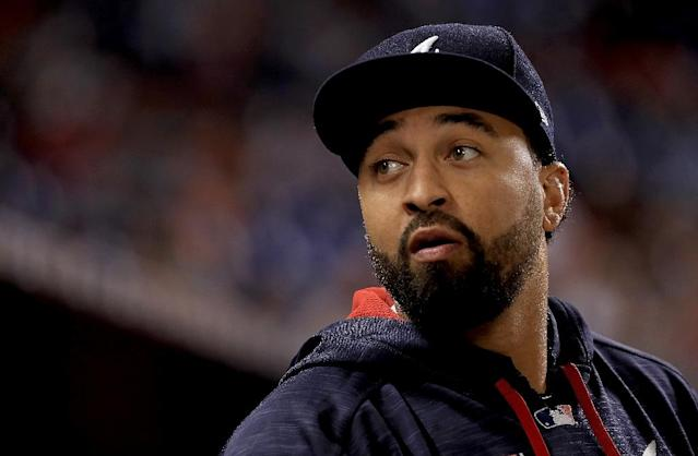 Slugger Matt Kemp played for the Dodgers from 2006-14, hitting 182 home runs, which is fourth-most in Dodgers history (AFP Photo/Mike Ehrmann)