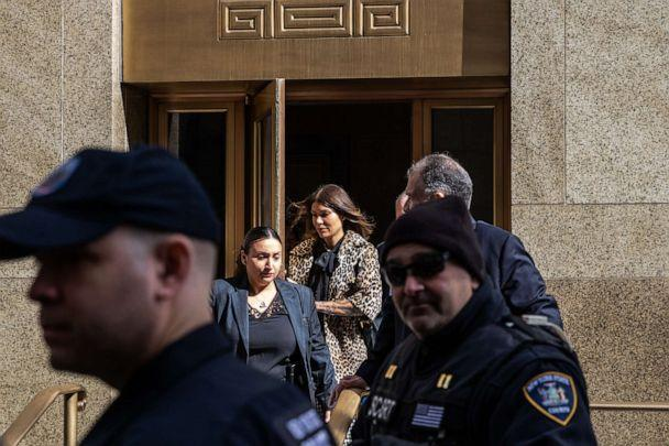 PHOTO: Dawn Dunning leaves New York Criminal Court following the sentencing of Hollywood mogul Harvey Weinstein on March 11, 2020, in New York. (Jeenah Moon/Getty Images, FILE)