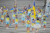 <p>Bike shorts and fanny packs? To the opening ceremony? Groundbreaking! Ukraine's outfits were both comfortable and practical, with a place to store snacks! </p>