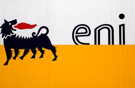 FILE PHOTO: The logo of oil company Eni is pictured at San Donato Milanese near Milan