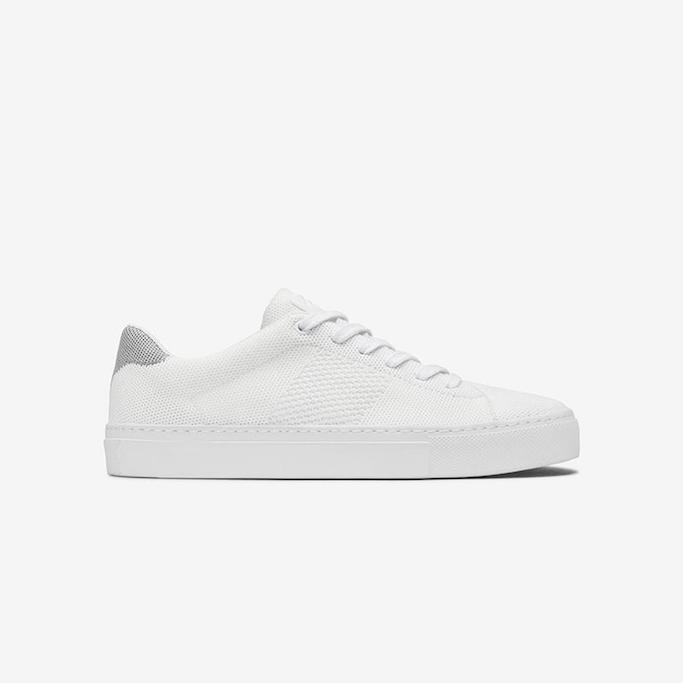 greats, white sneakers, knit sneakers