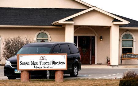 FILE PHOTO:    The Sunset Mesa Funeral Directors and Donor Services building in Montrose, Colorado, U.S., December 16, 2017. Picture taken December 16, 2017.   REUTERS/Rick Wilking/File Photo