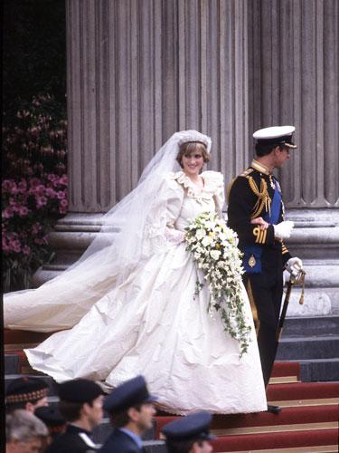 """<div class=""""caption-credit""""> Photo by: Anwar Hussein/Getty Image</div><div class=""""caption-title"""">Princess Diana</div>At her wedding to Prince Charles, 1981. The world cheered as the princess made her formal entrée into the public eye. <br> <br> <p>   <b>More from REDBOOK:   <br></b> </p> <ul>   <li>     <b><a rel=""""nofollow"""" href=""""http://www.redbookmag.com/beauty-fashion/tips-advice/october-2012-fashion-and-accessories-for-breast-cancer-awareness?link=rel&dom=yah_life&src=syn&con=blog_redbook&mag=rbk#slide-1"""" target="""""""">50 Finds Under $50 -- That Give Back!</a></b>   </li>   <li>     <b><a rel=""""nofollow"""" target="""""""" href=""""http://www.redbookmag.com/health-wellness/advice/increase-metabolism?link=rel&dom=yah_life&src=syn&con=blog_redbook&mag=rbk#slide-1"""">20 Ways to Speed Up Your Metabolism</a></b>   </li> </ul>"""