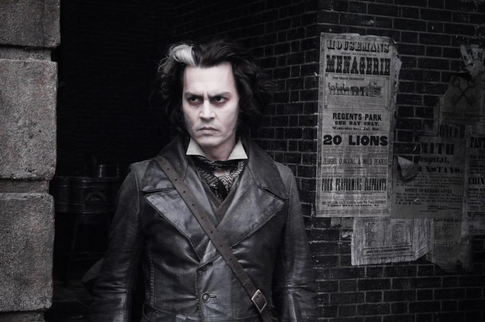 Johnny Depp in full goth mode (PUBLICITY PICTURE)
