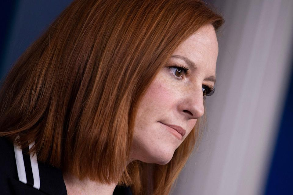 White House press secretary Jen Psaki said that the safety of journalists is a 'paramount responsibility'AFP via Getty Images