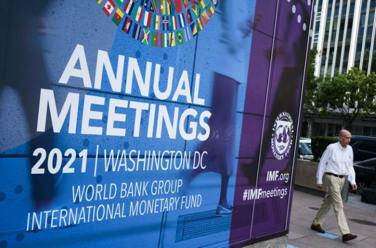 Supply chain bottlenecks that threaten to hobble the global recovery will be a focus of discussion at the annual meetings of the World Bank and IMF (AFP/MANDEL NGAN)