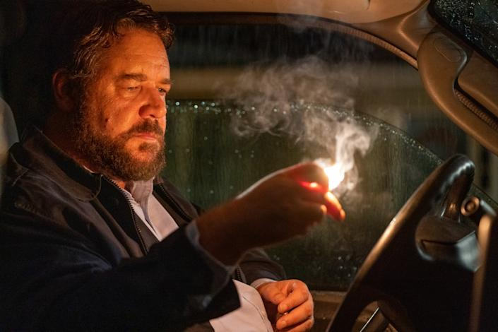 """Russell Crowe in """"Unhinged,"""" the first release from distributor Solstice Studios. <span class=""""copyright"""">(Skip Bolen)</span>"""