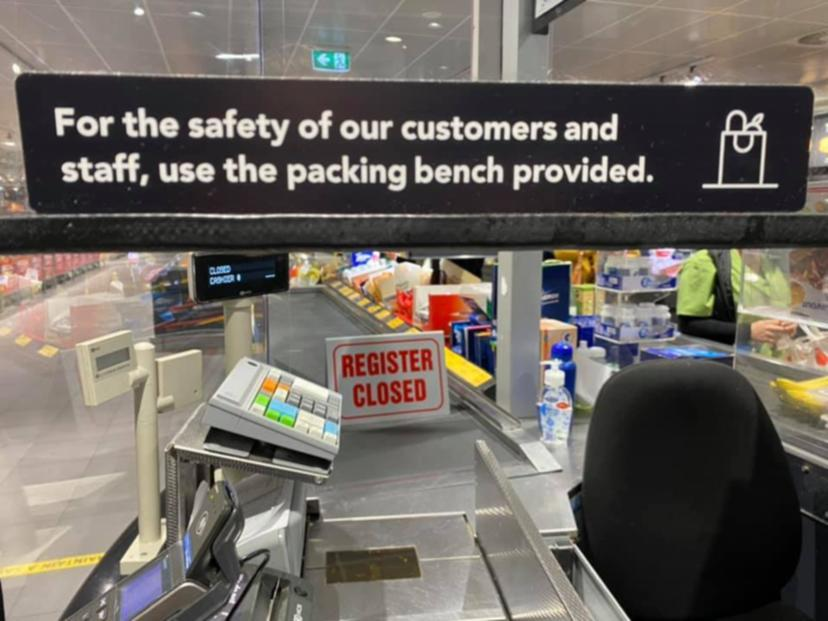 new aldi checkout signs