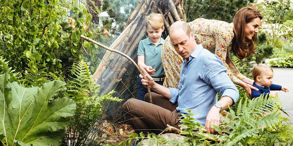 "<p>For the 2019 Chelsea Flower Show, the Duchess of Cambridge teamed up with the Royal Horticultural Society to design a <a href=""https://www.harpersbazaar.com/celebrity/latest/a26271587/kate-middleton-garden-royal-horticultural-society-chelsea-flower-show/"" rel=""nofollow noopener"" target=""_blank"" data-ylk=""slk:Back to Nature Garden"" class=""link rapid-noclick-resp"">Back to Nature Garden</a>. Adorable photos show the Cambridge family playing together across the grounds. </p>"