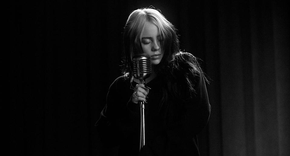 Billie Eilish in the music video for her Bond theme song No Time To Die. (MGM/Eon/Universal)