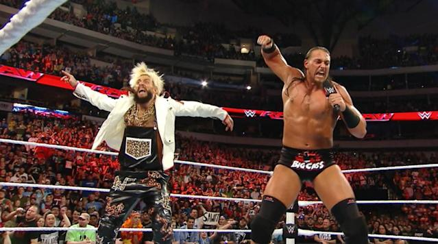 "<p><a href=""https://twitter.com/WWEAaLLday21"" rel=""nofollow noopener"" target=""_blank"" data-ylk=""slk:Enzo Amore"" class=""link rapid-noclick-resp""><em>Enzo Amore </em></a><em>and <a href=""https://twitter.com/BigCassWWE"" rel=""nofollow noopener"" target=""_blank"" data-ylk=""slk:Cass"" class=""link rapid-noclick-resp"">Cass </a>battled at WrestleMania 33 in a ladder match for the Raw tag team titles. The charismatic pair was unsuccessful in its bid to become champions, yet the two 30 year-olds have quickly ingratiated themselves as one of WWE's most popular acts. They are now the spokesmen for the new WWE-themed SAWFT bar from Snickers, and connected with SI.com to discuss WrestleMania, the Hardys, Tom Brady, the New York Yankees, and the evolution of their characters.</em></p><p>Enzo Amore and Big Cass have their eyes set directly on the Hardy Boyz.</p><p>""Just the sound of that has me excited,"" said Cass. ""We were going through adolescence when the New Age Outlaws were a big deal, and then, of course, the TLC matches and three-way ladder matches with the Dudleys, Edge and Christian, and the Hardys. The tag team championships are a very big deal to us, and we'd love to have that match.""</p><p>Amore and Cass lost their chance at becoming the number one contender with a loss to Cesaro and Sheamus on <em>Raw</em>. Permitting they are not moved to <em>SmackDown </em>during next week's ""Superstar Shake-Up"", the pair admitted that they would be grateful to work a program with the Hardys.</p><p>""Me and Big Cass debuted against the Dudleys,"" said Amore. ""I don't think Edge and Christian are ever coming back, but those three tag teams set the standard for tag team champions, especially with ladders involved at a WrestleMania. The chance to get in the ring with them is an opportunity to earn their respect, as well as respect from the fans and our peers.""</p><p>While Amore and Cass took their <em>WrestleMania 33 </em>defeat to heart, the result has not changed their ultimate destination as WWE tag team champs.</p><p>""Cuppa ladders, cuppa ladders, but we know who we are and where we're going,"" said Amore. ""And we're going straight to the top.""</p><p>The pair is also the company's official spokesman for the new WWE-themed Snickers SAWFT bar. Amore was asked to play name association and connect WWE talent to their candy equivalent.</p><p>""John Cena is an Almond Joy,"" said Enzo. ""The Miz is Laffy Taffy, but I don't know about AJ Styles. What kind of candy do soccer moms eat?""</p><p>Amore and Cass debated over which piece of candy would best represent former tag champs Gallows and Anderson. Cass thought that Sour Patch Kids was an appropriate fit, but Amore disagreed.</p><p>""Gallows and Anderson are lollipops,"" said Amore. ""That one is easy.""</p><p>When asked which candy bar best fit the personality of Vince McMahon, there was no debate, and none of their choices were crispitty, crunchicitty, or peanut-buttery.</p><p>""Vince McMahon?"" asked Amore. ""He's a Snickers, he's the best. In the months to come, when you find yourself hungry in the coming months, get yourself a Sawft Bar, alright? How you doin'?""</p><p>Cass explained that people's personalities often change when they are hungry, yet he offered a solution to the conundrum.</p><p>""You're not you when you're hungry,"" said Cass. ""Sometimes, when you're hungry, you're S-A-W-F-T sawft. Believe me, there is nothing worse in the world than being soft, so how do you remedy that? Grab a Snickers and satisfy your hungry.""</p><p>Amore and Cass both admitted that they had hoped for a chance to wrestle the New Day at <em>WrestleMania 33</em>.</p><p>""We were disappointed that the New Day wasn't included in the match,"" said Cass. ""They had the longest title reign ever, and we wanted to be the guys that took the <em>Raw</em> tag team titles away from them. Unfortunately, we didn't get that opportunity, but Cesaro and Sheamus did.</p><p>""We wished that the New Day would have been in the WrestleMania match. We would have liked to beat the New Day and all three of those teams, and we'd like to have a title reign longer than the New Day.""</p><p>New England Patriots star tight end <a href=""https://www.youtube.com/watch?v=txV3JKDkAUc&feature=youtu.be"" rel=""nofollow noopener"" target=""_blank"" data-ylk=""slk:Rob Gronkowski"" class=""link rapid-noclick-resp"">Rob Gronkowski </a>interjected himself <a href=""https://www.si.com/extra-mustard/2017/04/02/rob-gronkowski-fights-wrestlemania-33-video"" rel=""nofollow noopener"" target=""_blank"" data-ylk=""slk:in the Andre the Giant Battle Royal at WrestleMania"" class=""link rapid-noclick-resp"">in the Andre the Giant Battle Royal at WrestleMania</a>, and Amore was quick to note that he has the solution for stopping Super Bowl MVP Tom Brady.</p><p>""Put a New York Giant on the field,"" said Amore. ""Is that not the right answer? Because that is the right answer.""</p><p>Amore is from New Jersey while Cass grew up in Queens, New York, and both are Yankees fans.</p><p>""I love the Yankees, but I don't hate on the Mets,"" said Amore. ""I don't have a bone of hatred for the Mets or the Jets.""</p><p>Cass noted that he is not overflowing with optimism for the upcoming baseball season.</p><p>""I hope the Yankees come out on top of the AL East, but I'm not extremely hopeful,"" admitted Cass. ""I'd say it's going to be a tough year in the AL East, and I'm not going to make a prediction, but I am looking forward to the season.""</p><p>The Yankees were buoyed for years by team captain Derek Jeter and the notoriously disliked Alex Rodriguez. Both Amore and Cass recoiled when asked who of the pair the A-Rod is and who is Jeter.</p><p>""You can't do that to us,"" objected Amore, before quickly adding, ""but I'm Jeter. I wore his number in college.""</p><p>The pair were also asked how they planned to evolve as characters in wrestling, as many popular acts before them have trapped themselves or grown overly reliant on past material.</p><p>""Our goal is staying fresh,"" said Cass. ""Keep changing, keep evolving. You have to keep your eyes on pop culture and keep your eyes on the fans.""</p><p>Amore playfully snapped at the question.</p><p>""Give me a break,"" joked Amore. ""You want to talk about change? I change in and out of clothes every Monday with a different pair of shoes. As far as staying fresh and staying new is concerned, it's about staying up with the times. More than that, me and Big Cass, combined, have probably written thousands and thousands of pages of promo material that the world has never heard yet.</p><p>""We're never going to run out of material or be short on something to say, Cass is never going to be short on height, and we're going to dominate the next ten years of WWE.""</p>"