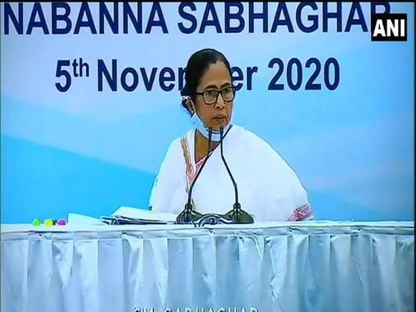 West Bengal Chief Minister Mamata Banerjee speaking at the press conference on Thursday. Photo/ANI