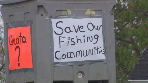 Protesters argued that the lack of a quota has threatened the livelihoods of everyone who makes a living off mackerel.