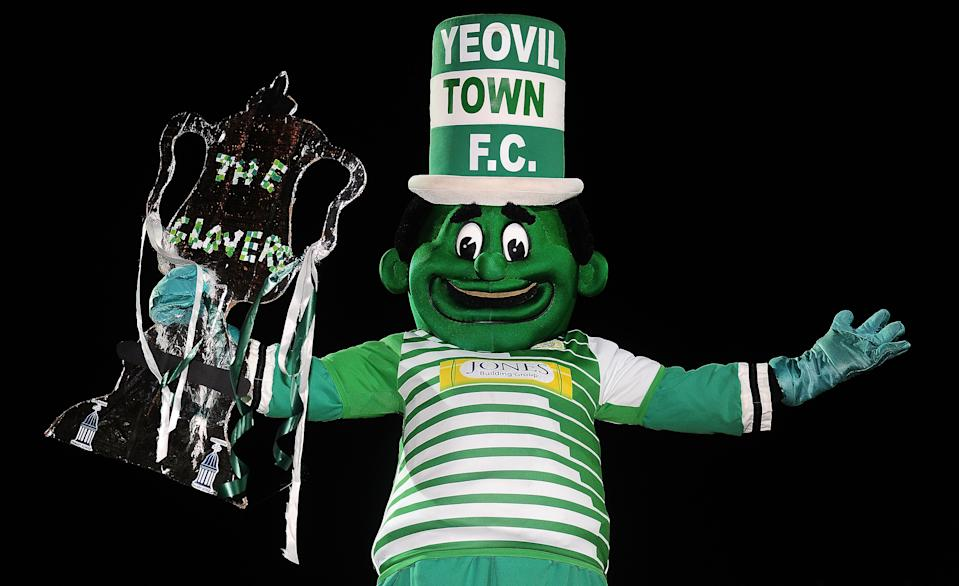 Yeovil Town's Jolly Green Giant is meant to be a happy man, instead he just looks a little petrified and ill.