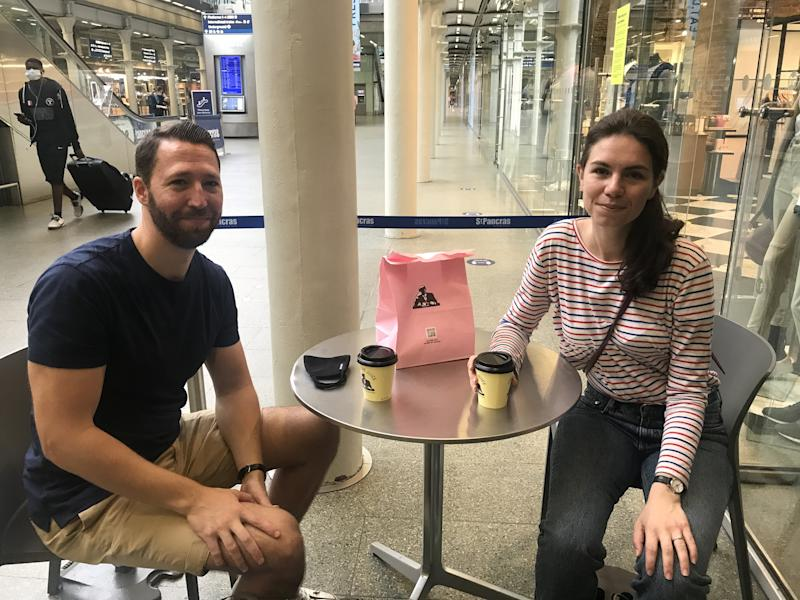 Bertie Lawrence, 33, and Elske Koelman, 29, are sticking to their plans to travel to the Netherlands to prepare for their wedding next month, but many relatives have had to cancel. (SWNS)