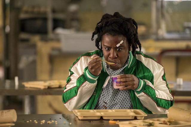 Uzo Aduba as Suzanne 'Crazy Eyes' in Netflix's <i>Orange Is The New Black</i>. (Credit: Netflix)