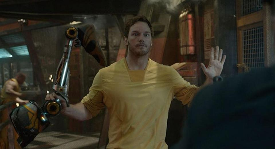 Peter Quill is caught leg-handed (Marvel Studios)