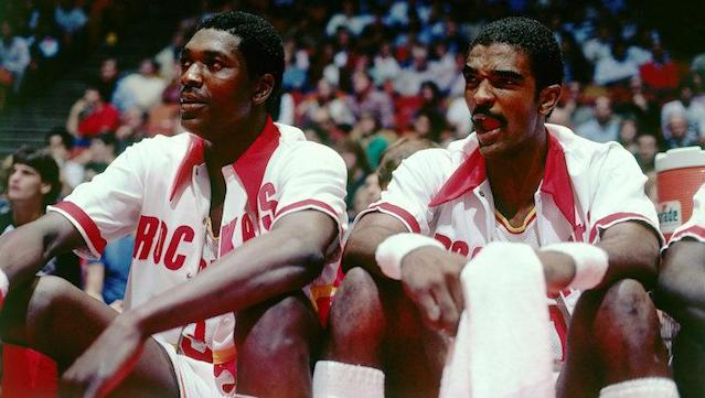 Hakeem Olajuwon and Ralph Sampson were once the next bigs thing. (Getty Images)