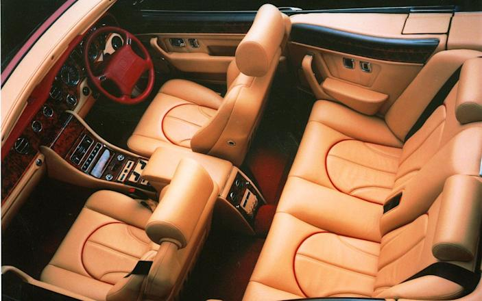 interior of the Rolls-Royce Corniche convertible, which made its world debut January 6, 200 at the Los Angeles Auto Show