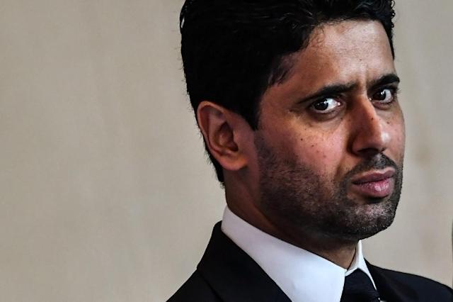 Warning: Paris Saint-Germain's Qatari president Nasser Al-Khelaifi (AFP Photo/Andreas SOLARO)