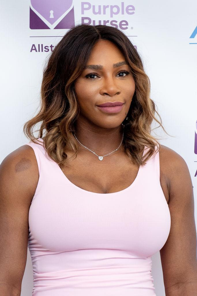 Serena Williams attends the Allstate Foundation Purple Purse launch of a national street art campaign to raise domestic violence and financial abuse awareness in New York in June. (Photo: Roy Rochlin/Getty Images)