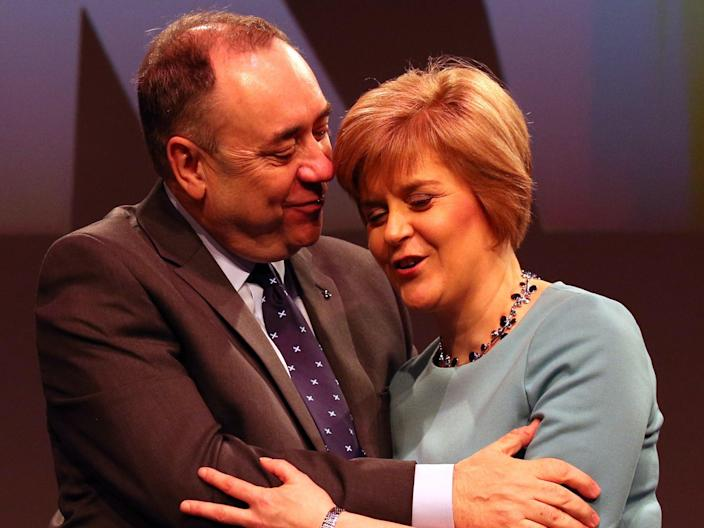Alex Salmond and Nicola Sturgeon at the SNP conference in 2014 (PA)