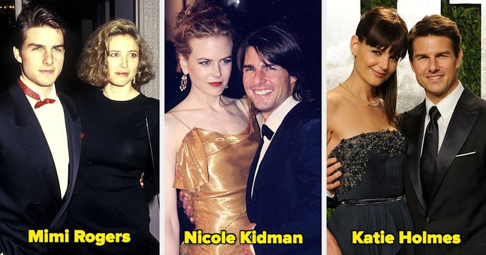 Tom Cruise with three former wives