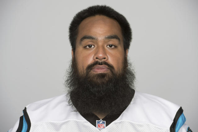 FILE - This is a 2017 file photo showing Star Lotulelei of the Carolina Panthers NFL football team. A person familiar with the situation confirms to The Associated Press that free agent defensive tackle Star Lotulelei has reached an agreement to sign a five-year contract with the Buffalo Bills. The person spoke on the condition of anonymity because the signing won't become official until the NFL's business year opens on Wednesday, March 14, 2018. (AP Photo/File)
