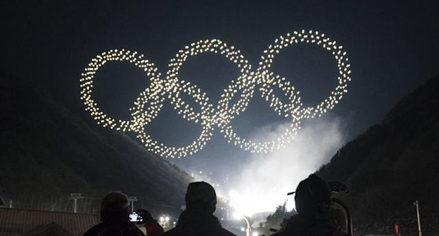 Drones seen in Friday's Opening Ceremony broadcast turned out to be recorded rehearsal footage. (Engadget)