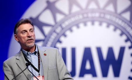 FILE PHOTO: UAW Vice President Norwood Jewell addresses their Special Bargaining Convention held at COBO Hall in Detroit, Michigan March 25, 2015. REUTERS/Jeff Kowalsky/File Photo